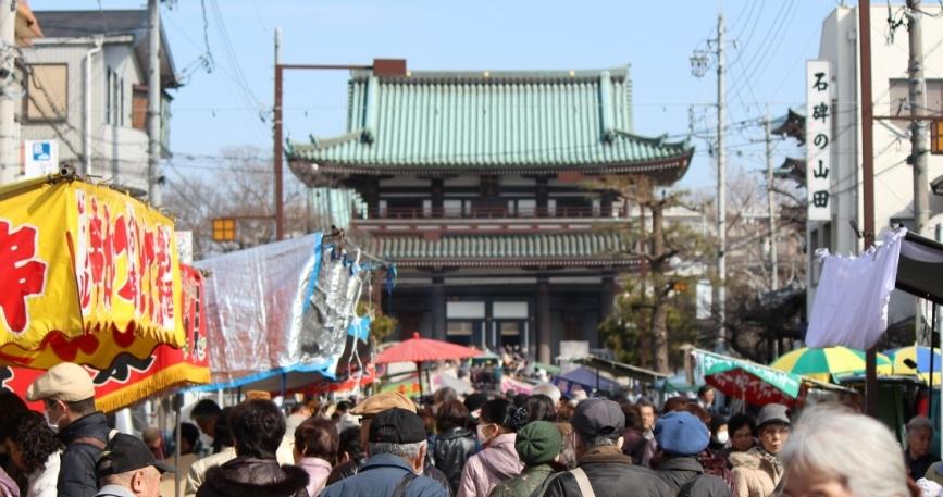 覚王山 日泰寺参道の縁日